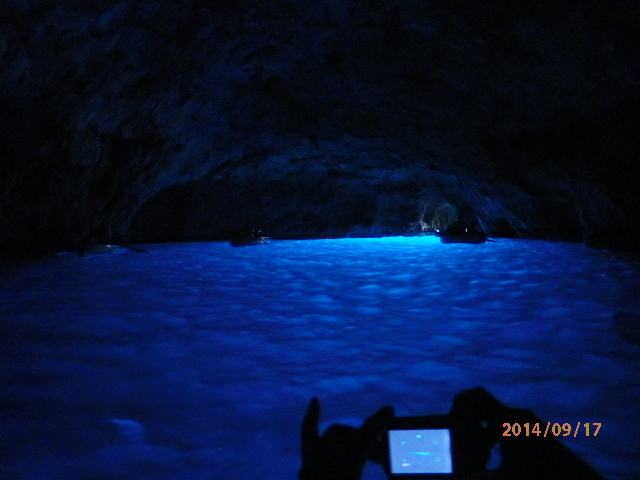 イタリアの旅、青の洞窟